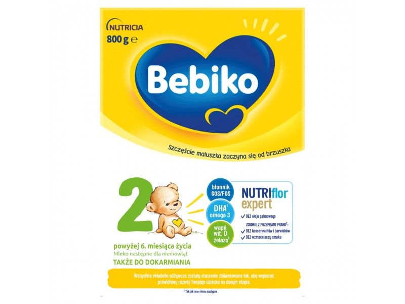Bebiko 2 Mleko nastêpne dla niemowl±t powy¿ej 6. miesi±ca ¿ycia 800 g