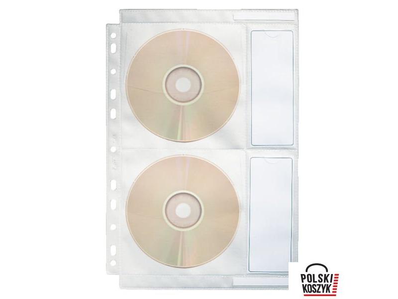 Esselte Koszulki na p³yty CD z PP 200 mic. Przezroczyste
