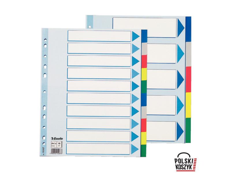 Esselte Maxi Przek³adki plastikowe z PP 10 kart