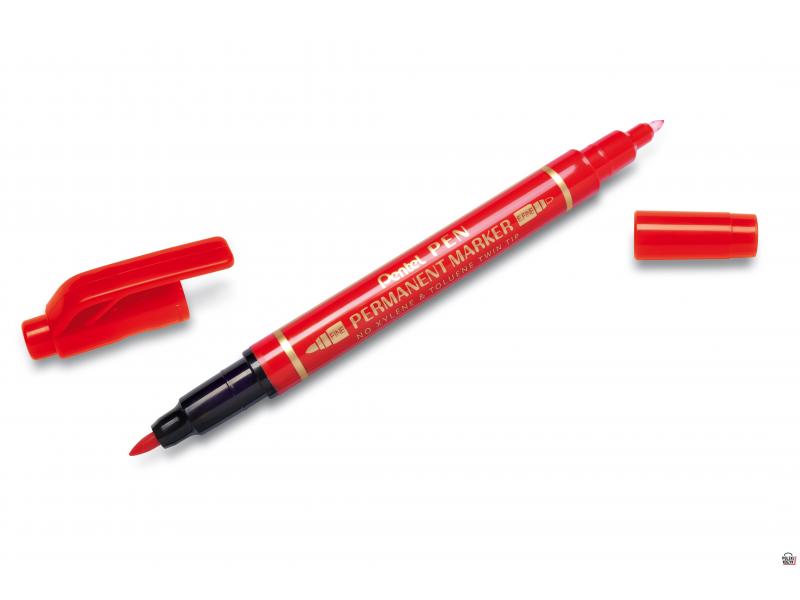 Pentel Foliopis dwustronny N75W/B czerwony