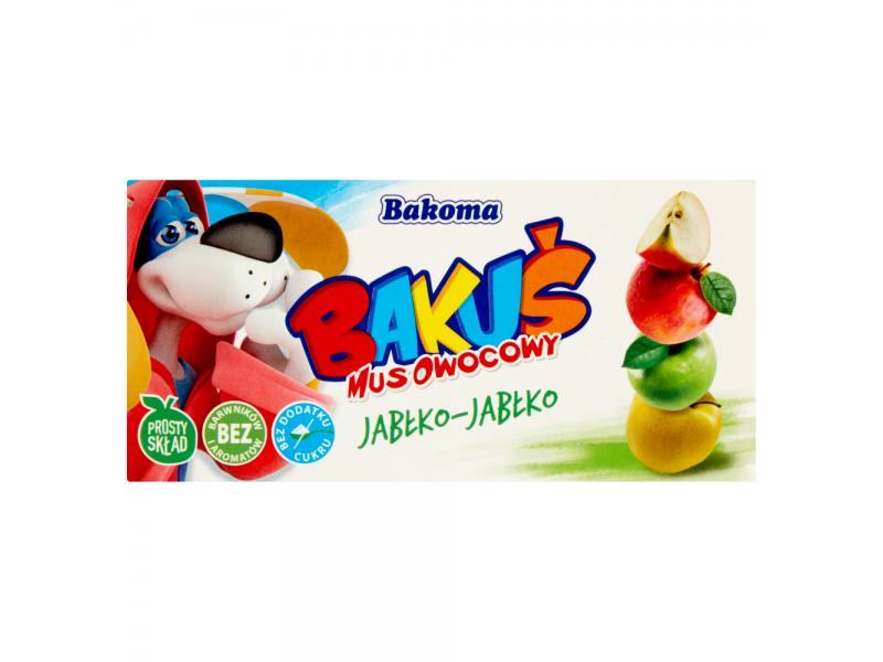 Bakoma Baku¶ Mus owocowy jab³ko-jab³ko 200 g (2 sztuki)