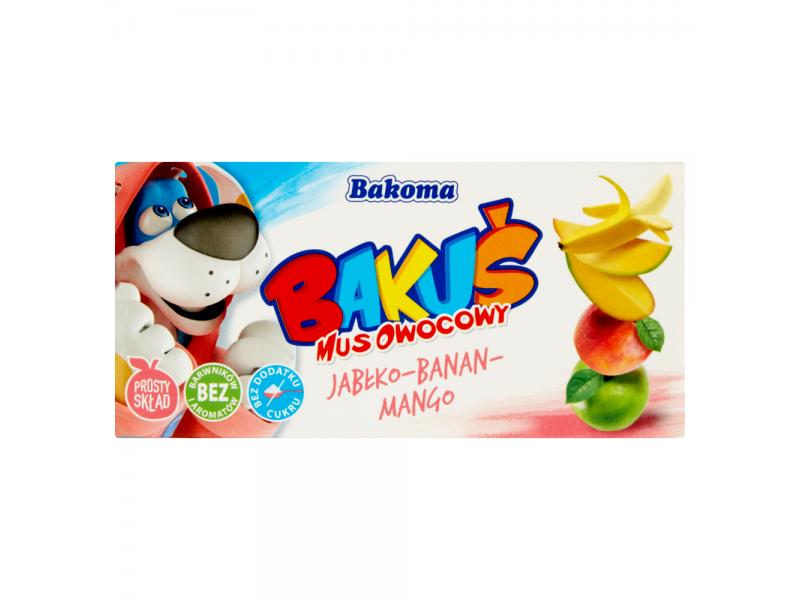 Bakoma Baku¶ Mus owocowy jab³ko-banan-mango 200 g (2 sztuki)