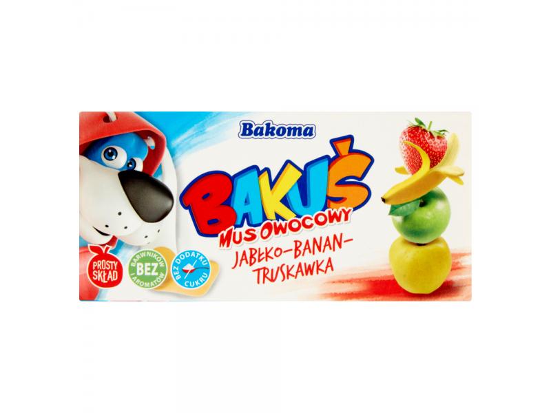 Bakoma Baku¶ Mus owocowy jab³ko-banan-truskawka 200 g (2 sztuki)