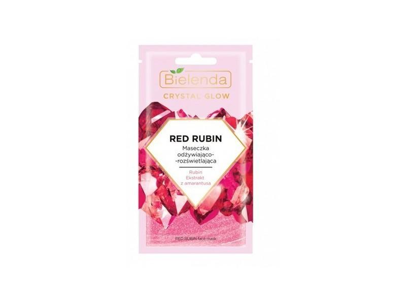 Bielenda Crystal Glow Maseczka od¿ywiaj±co-roz¶wietlaj±ca Red Rubin 8 g