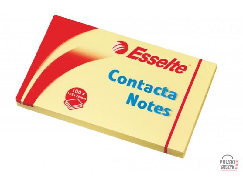 Bloczki samoprzylepne ESSELTE 75x125 ¯ó³ty 100k