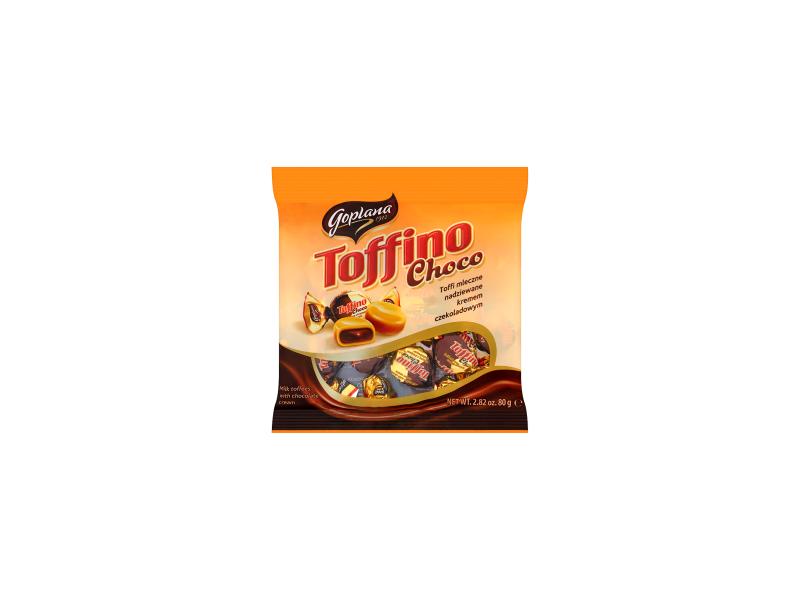 Goplana Toffino Choco Toffi mleczne nadziewane kremem czekoladowym 80 g