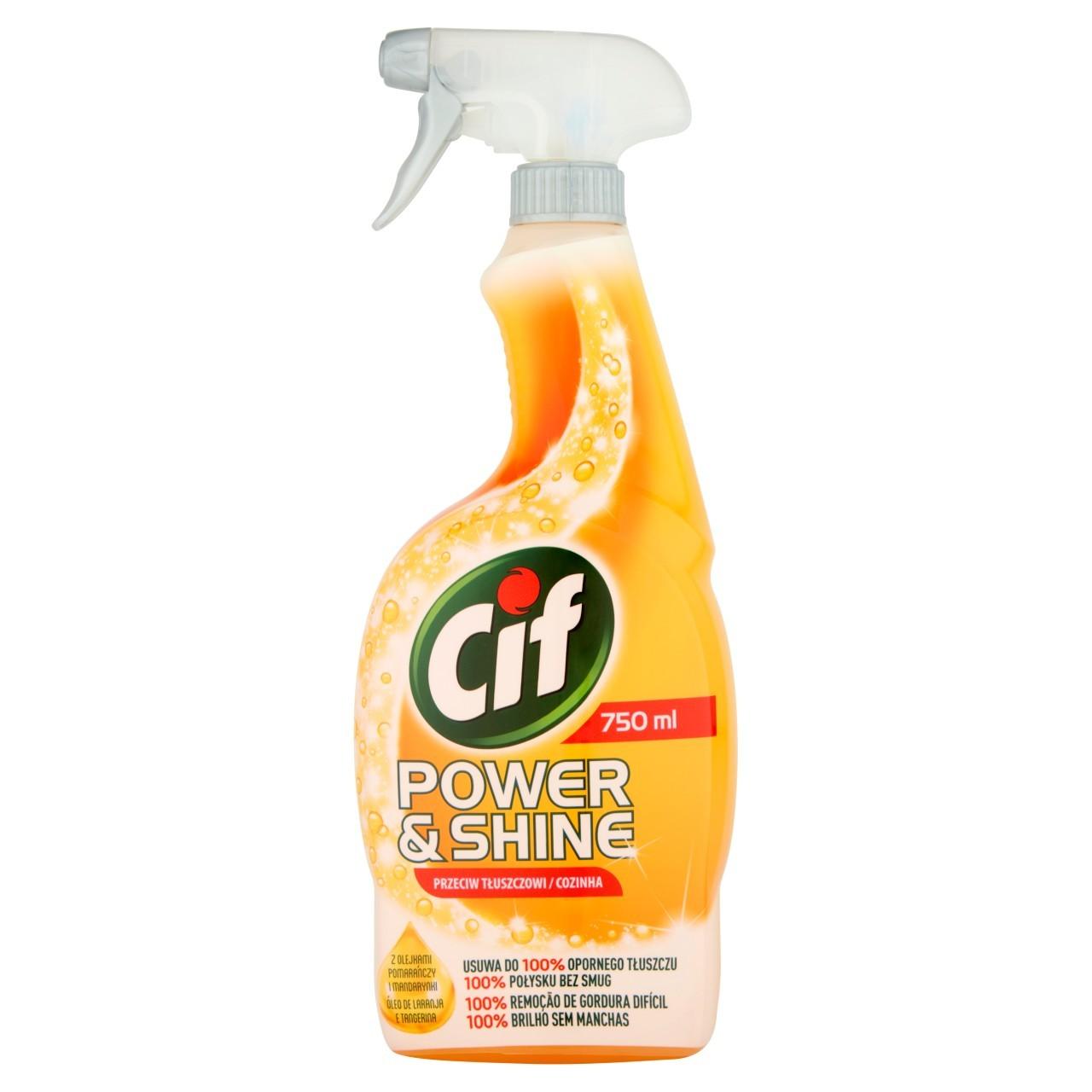 Cif Power Shine Przeciw Tłuszczowi Spray 750 Ml